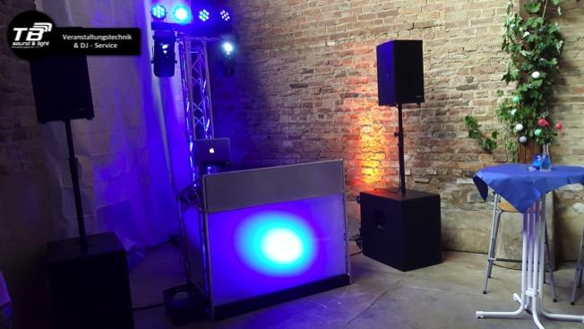 DJ für Silberhochzeit in Wormersdorf - hier unser LiteConsole DJ Stand