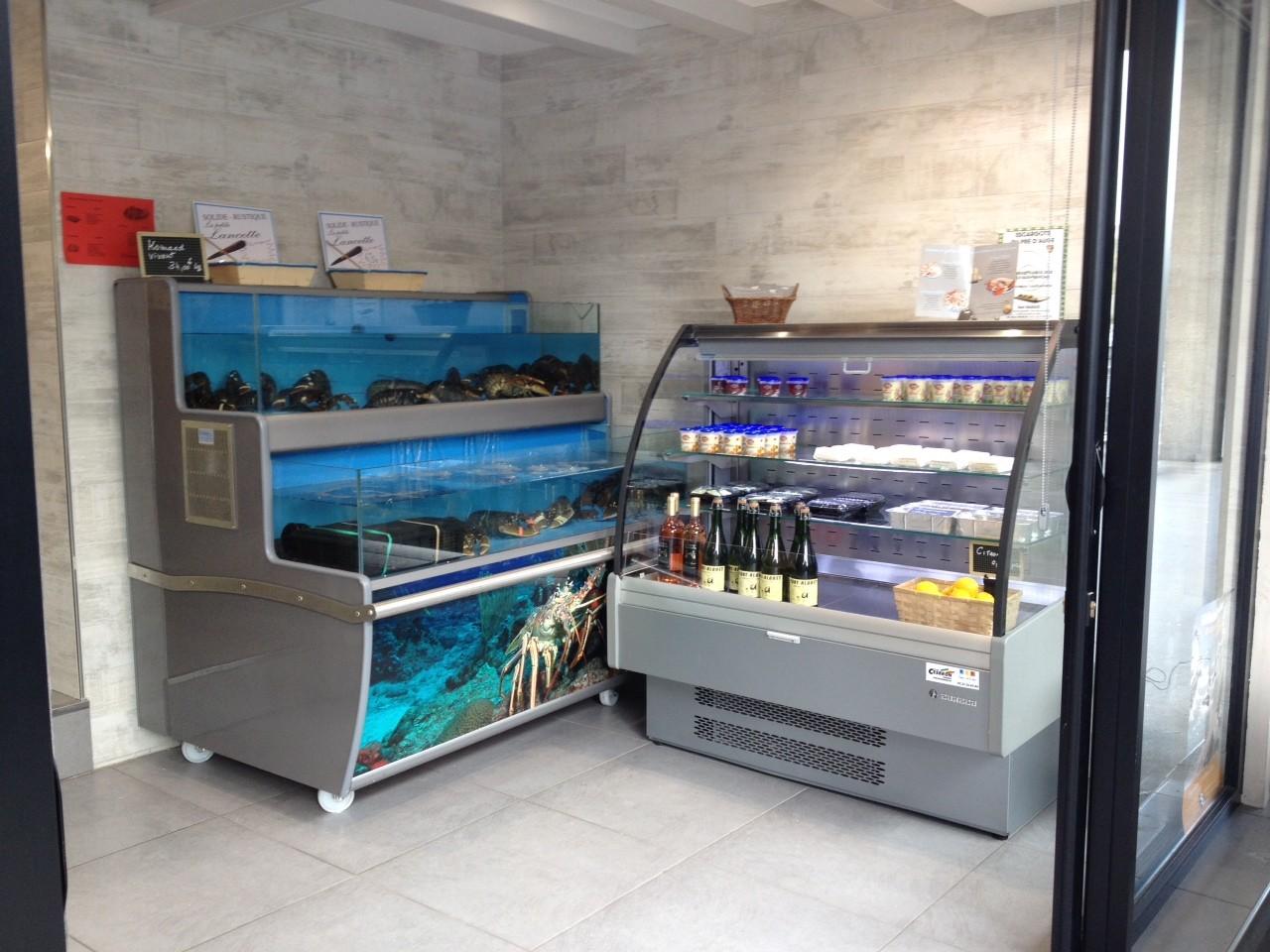 Viviers à hormards et crabes et épicerie marine…
