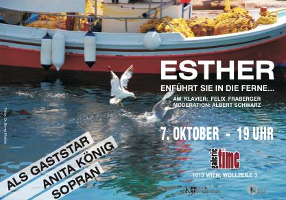 galerie time Musik Esther, Klavier: Felix Graberger, Moderation: Albert Schwarz, Anita König, Sopran