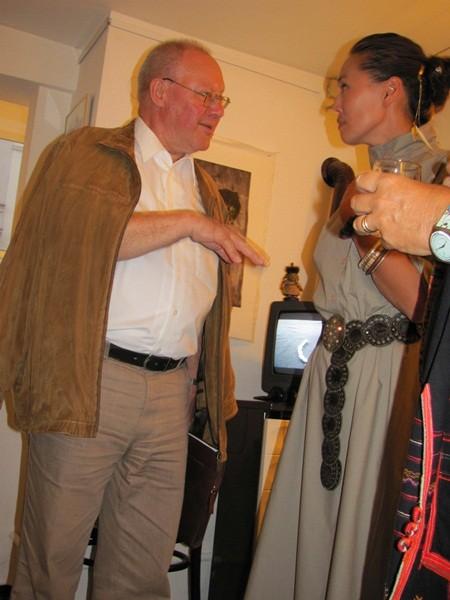 Dr. Franz Greif im Gespräch mit Bat Otgonbat -  Foto: Mag. (FH) Beate Mitterhuber