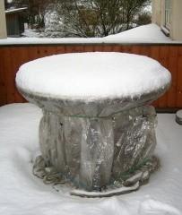 Bild 5: Lavasteintisch im Winter