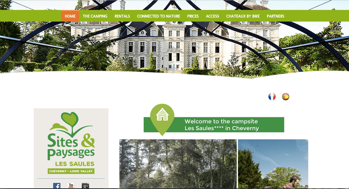 Green is harmonious and calming, and generally signifies nature, health, or even wealth. Because of its associations with the great outdoors, it can be a good match for vacation websites like this one.