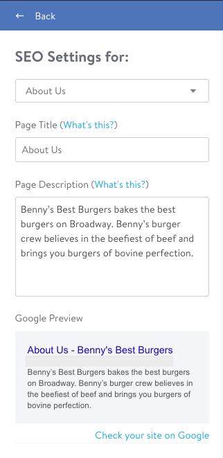 Set your page description
