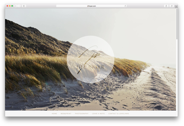 Jimdo's Stockholm Template is perfect for photographers
