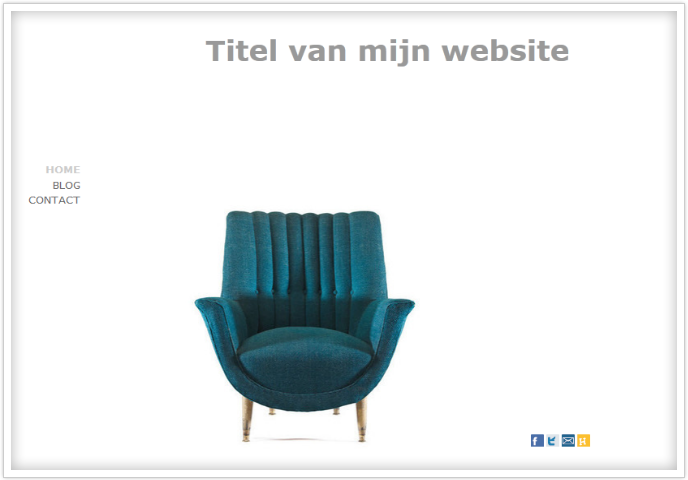 minimalistische website