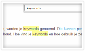 keywords in tekst