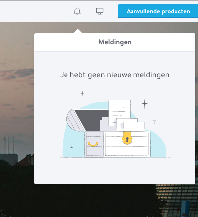 Nieuwe notificaties Jimdo menu