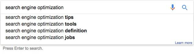 Jimdo zoekwoorden in Google