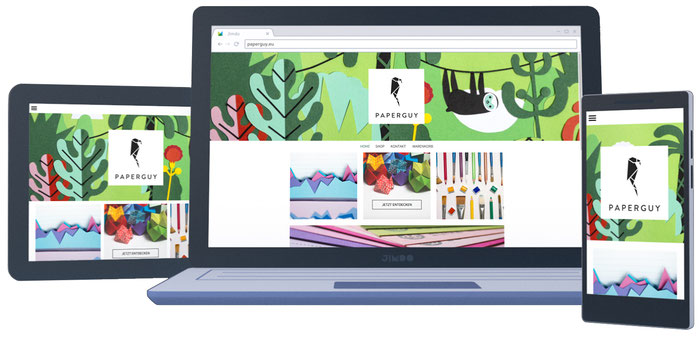 Jimdo-websites zijn allemaal responsive en zien er daarom op elk apparaat geweldig uit.