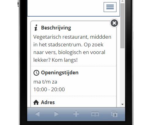 mobiele startpagina Jimdo website