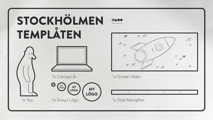 Jimdo websites met Design Stockholm