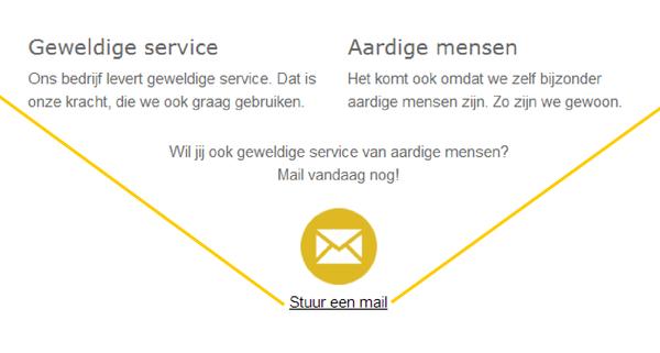 toelopende content naar mailbutton - hulplijnen