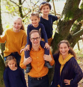 Jochen Drechsler mit seiner Familie