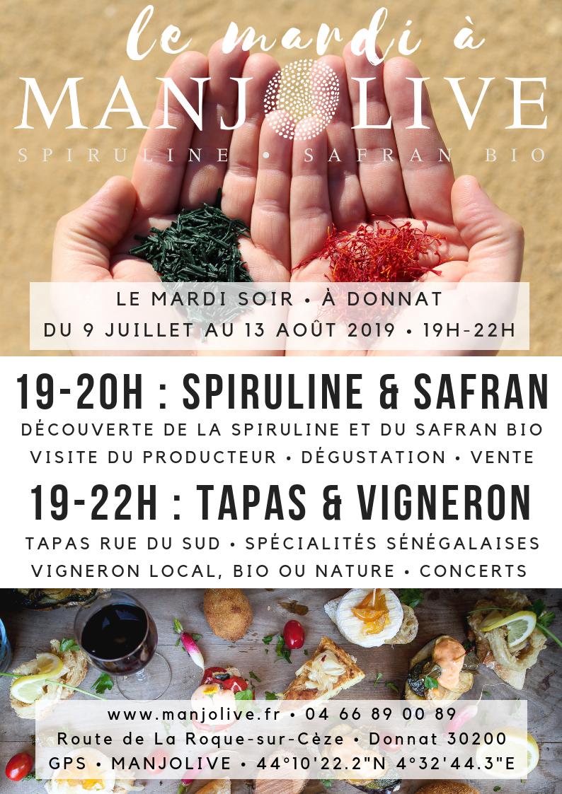Le mardi à Manjolive, soirée, visite, tapas et vigneron