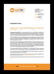 """Grafik: Preview der Pressemitteilung """" aaf.de Microwebsite - Gebrauchtwagenhändler in Hamburg"""""""