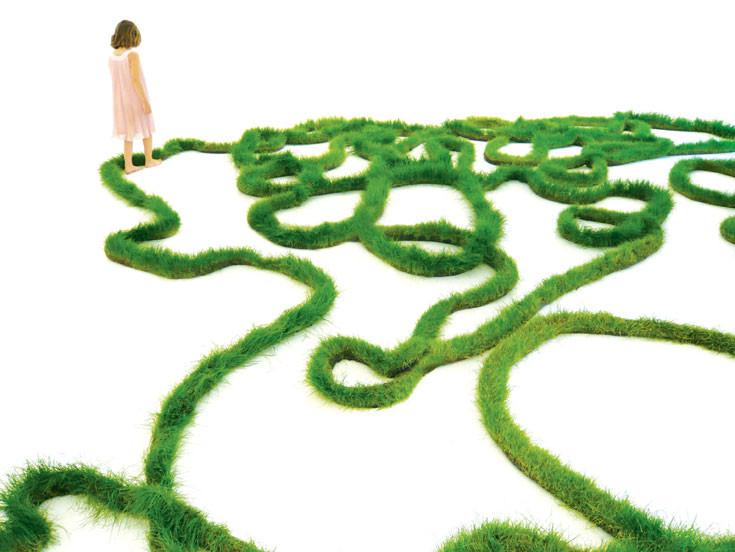 vergessen erinnern | 2009, Gras, Installation