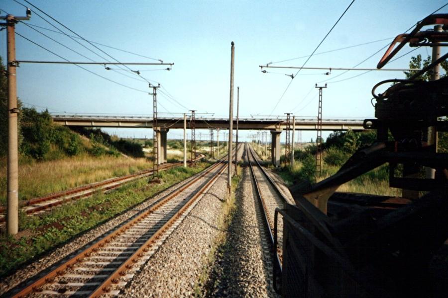 Fahrt zum Kraftwerk Thierbach, vor der Kitzscher Brücke