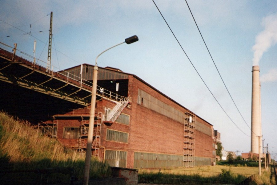 Kohlebunker im Braunkohlenkraftwerk Espenhain