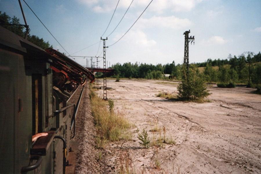 36er Niederfahrt, Ausfahrt aus dem Tagebau