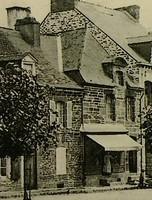Maison - 17ème détruite place de la mairie, emplacement Crédit Mutuel