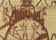 Prise de la motte castrale de Dinan Tapisserie de Bayeux 11ème siècle