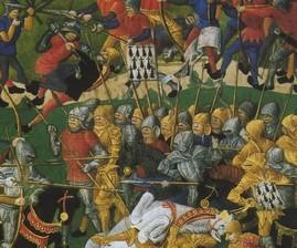 La bataille d'Auray met un terme à la guerre de succession le 29 septembre 1364. Le vicomte Jean 1er de Rohan est fait prisonnier.