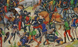 Bataille d'Auray 29 09 1364 - BNF.ms.fr.2643 fol.292