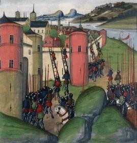 Siège de Vannes par Charles de Blois « Chroniques d'Angleterre ». Jean de Wavrin, Belgique XVème