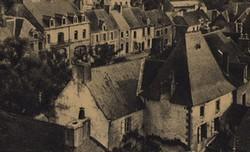 Maison à pavillon détruite, haut de la place de mairie emplacement Hôtel de Rohan