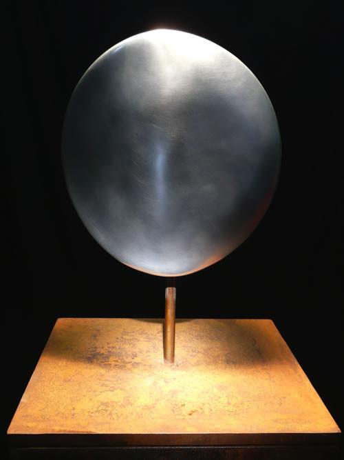Nr. 1-2008 D 200mm, T 80mm Aluminium mattiert,auf Stahlplinthe
