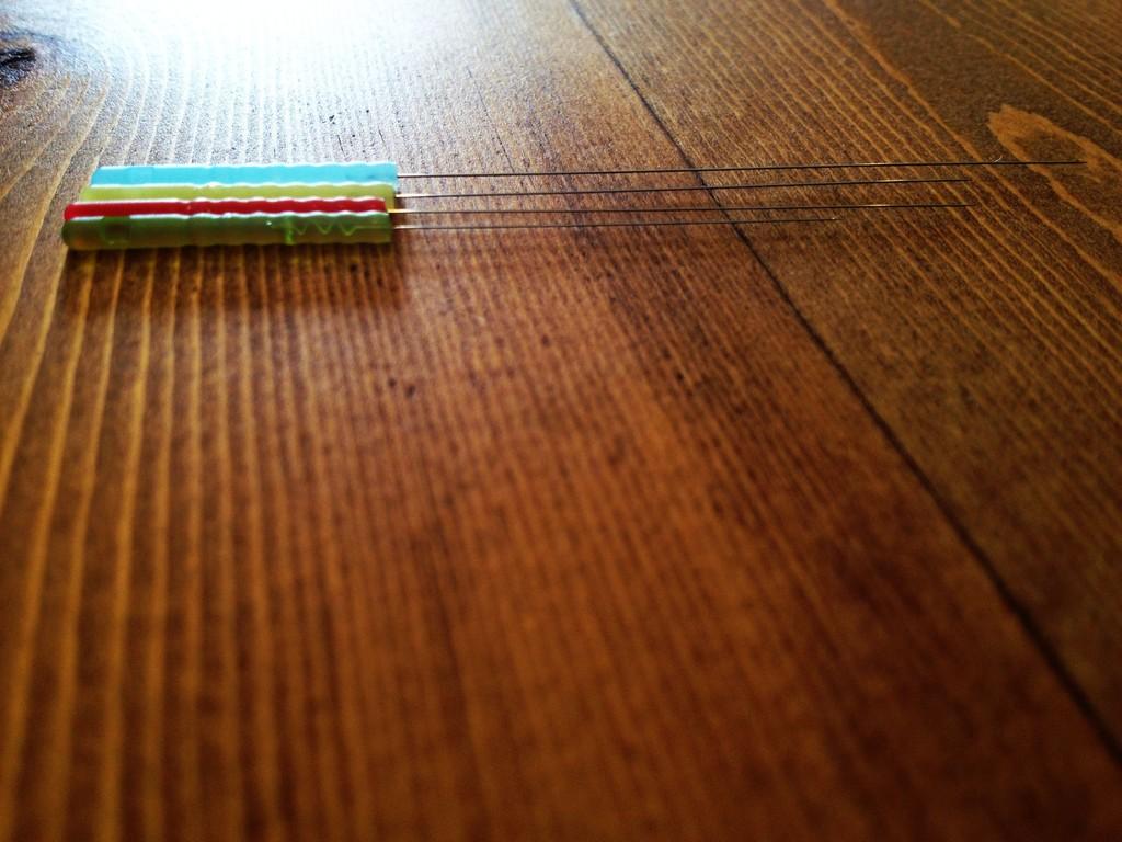鍼はすべて使い捨てのものを使用しています。用途によって鍼の太さや長さが違います。