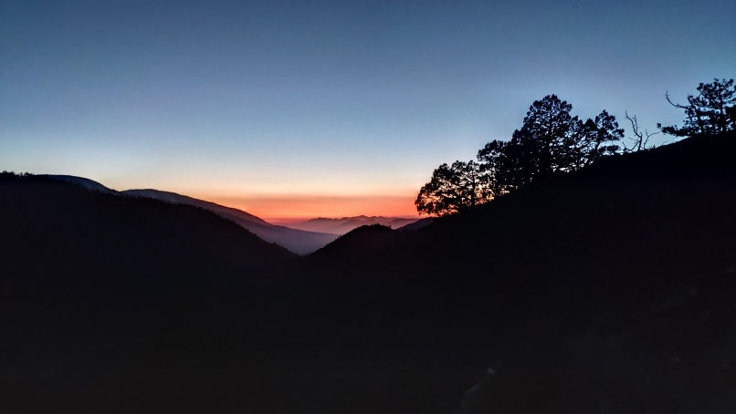 Sonnenuntergang gestern Abend im San Bernardino Forest