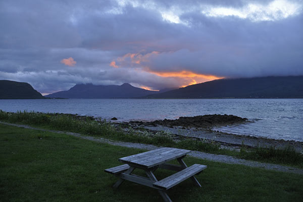 Abendwolken in Nesna