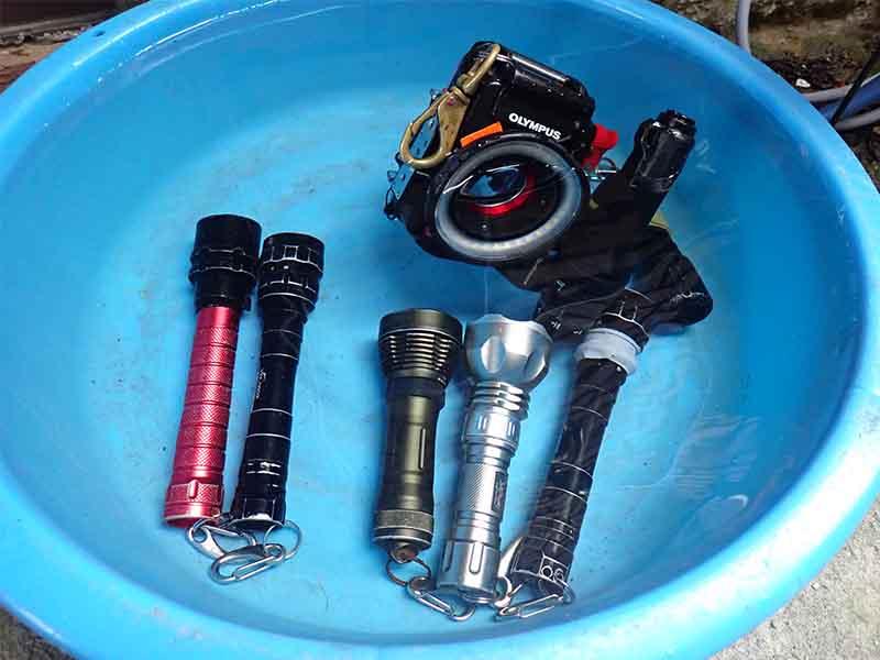 使い終わったら水へ。水から出したら電池を抜いておきましょう