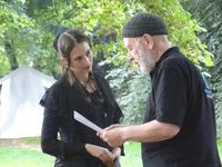 Birte Richter mit dem bekannten Schauspieler und Autoren Hannes Demming
