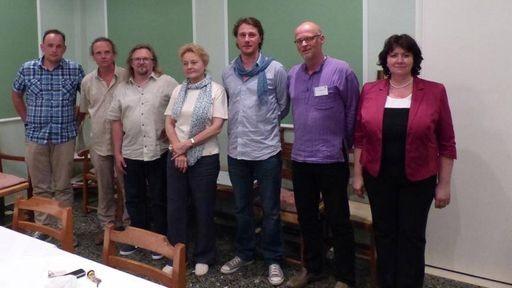 Das Steuerungskomitee von Planta Europa (von links nach rechts): Dr. Mykyta Peregrym (Ukraine), Dr. Baudewijn Odé (Niederlande), Dr. Mora Aronsson (Schweden), Prof. Dr. Anca Sarbu (Rumänien), Dr. Phil