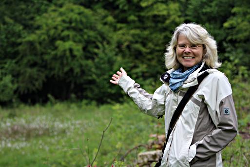 Dr. Heide Heising vom Umweltamt der Stadt Lengerich führte die Münsteraner Gruppe an (Foto: Thomas Hövelmann)