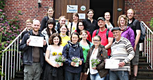 Die Teilnehmer vor dem Start, Foto: Hanna Baumann
