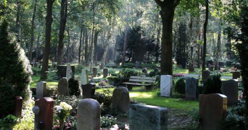 Der Waldfriedhof Lauheide ist landschaftlich sehr schön (Foto: Uschi Sander)