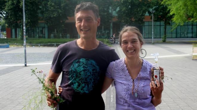 Das Siegerteam PlantaGO aus Kerstin Conrad und Daniel Krämer