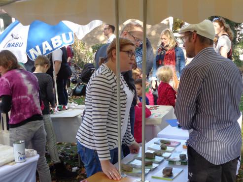 """Claudia Pieper beantwortete viele Fragen zur Arbeit des NABU und zum Projekt """"Natur für alle"""""""