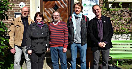 Der Vorstand von Planta Europa in Münster (v.l.n.r.): Thomas Hövelmann, Prof. Dr. Erika Konya (Ungarn), Dr. Mora Aronsson (Schweden), Dr. Philippe Bardin (Frankreich), Dr. Baudewijn Odé (Niederlande)