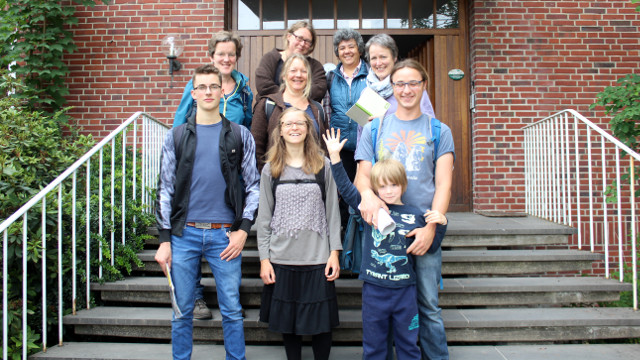 Die Teilnehmer des diesjährigen Münsterländer PlantRace auf Haus Heidhorn (Fotos: Thomas Hövelmann)