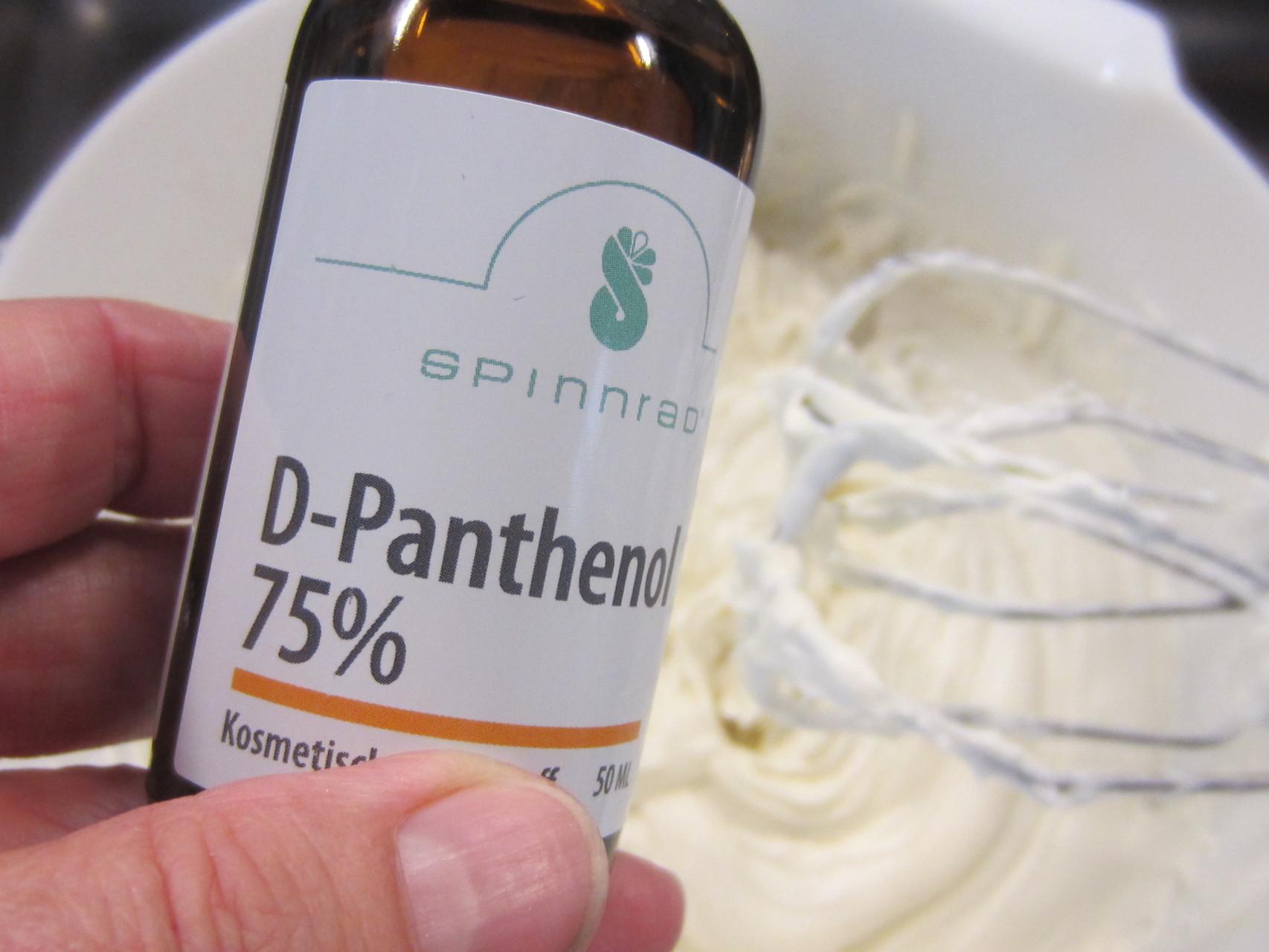 d-panthenol - wundheilende, feuchtigkeitserhaltende, entzündungshemmende und regenerierende Wirkung