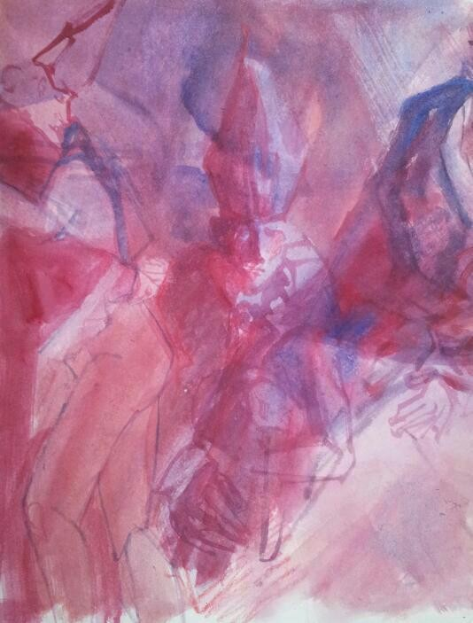 Acryl auf Papier - 2014