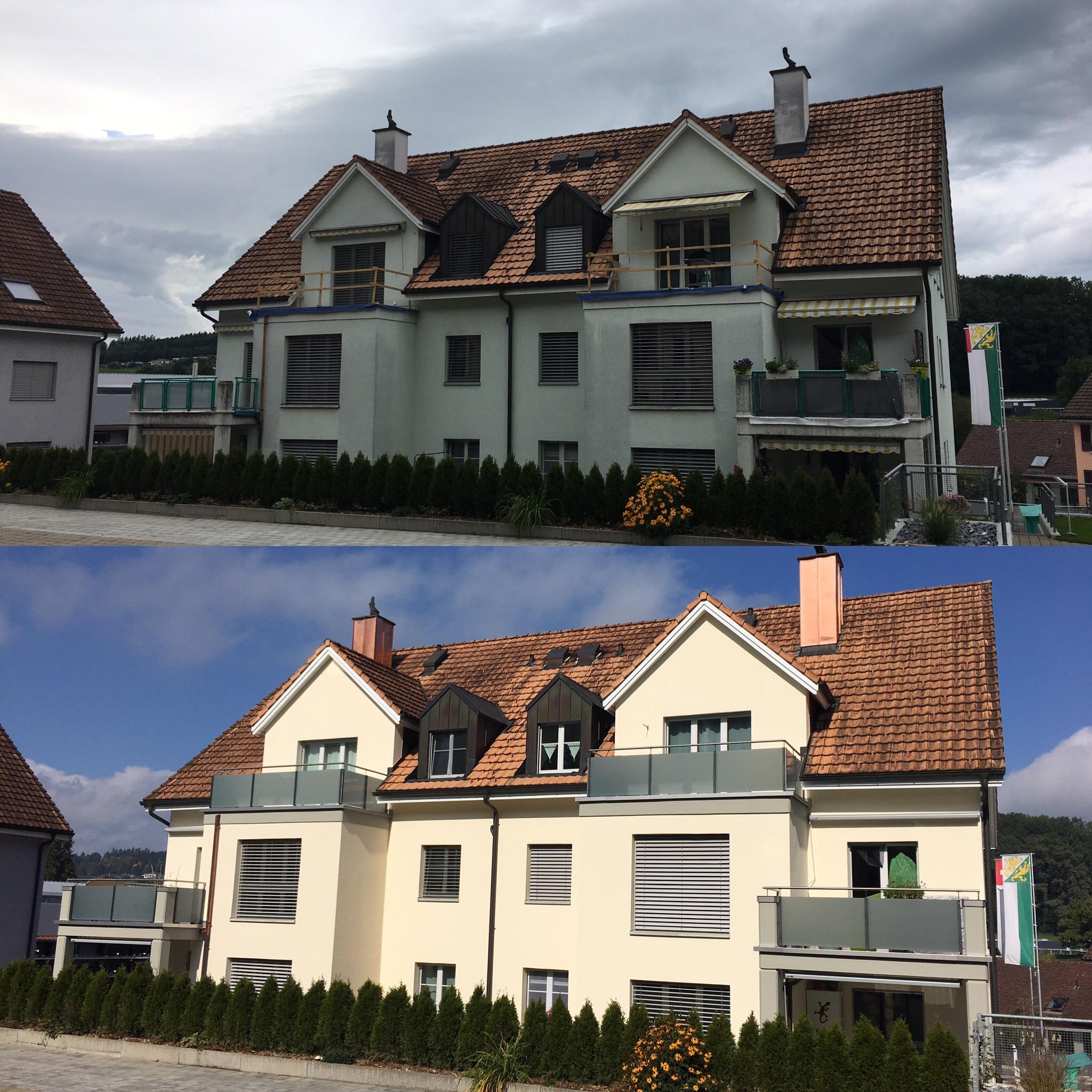 Vorher/Nachher Sicht Innenhof