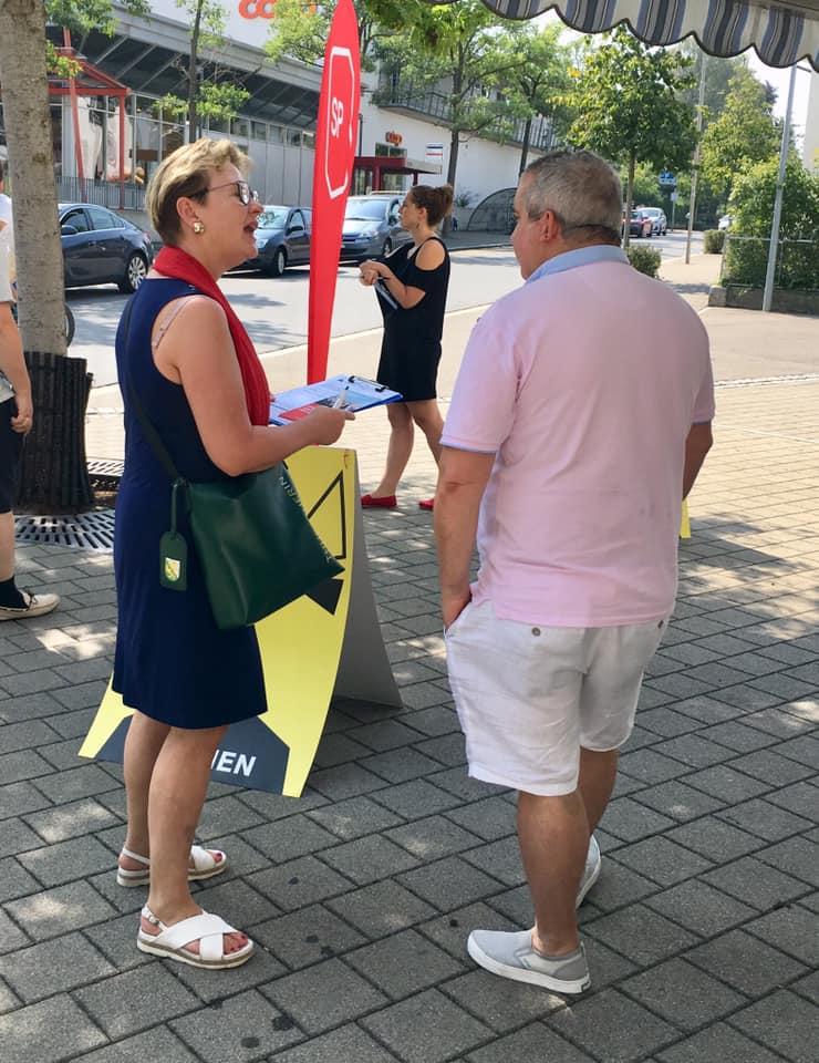 Bezahlbare Prämien für alle - Unterschriftensammlung 08.2019
