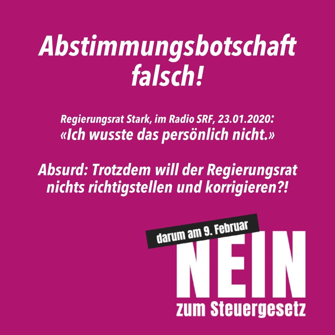 Empfehlung Thurgauer Steuergesetzt 02.2020