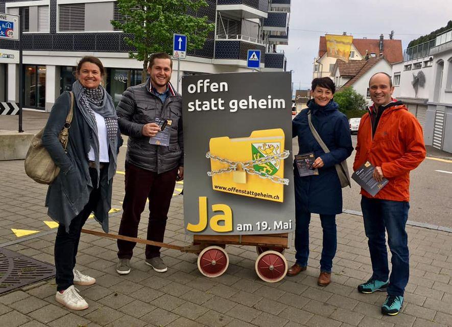 """""""Offen statt geheim"""" - Abstimmung 19.05.2019 unterwegs in Romanshorn"""