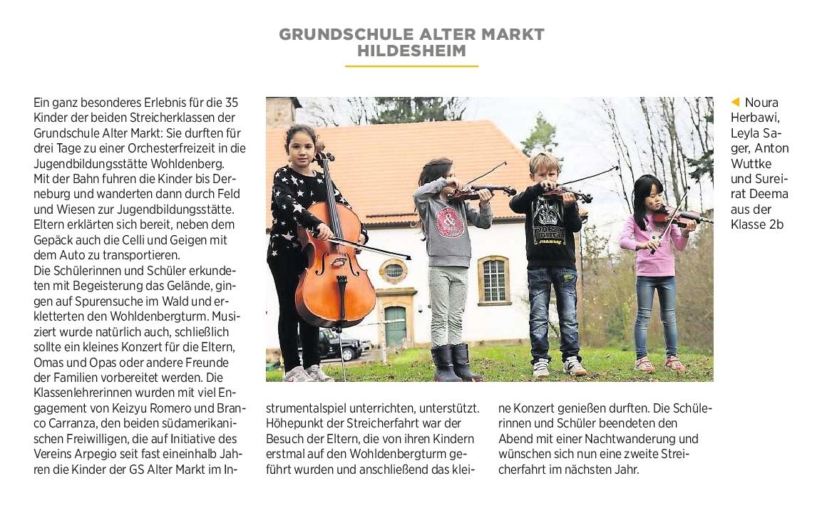 05.12.2016 Quelle: Hildesheimer Allgemeine Zeitung
